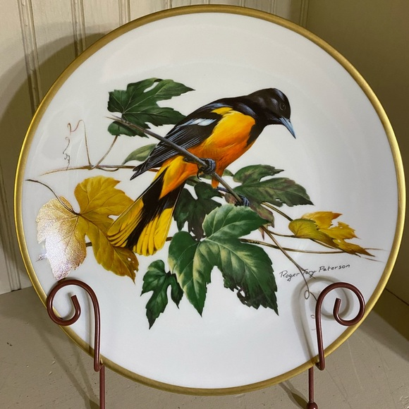 Vintage Other - Roger Troy Peterson Baltimore Oriole bird plate